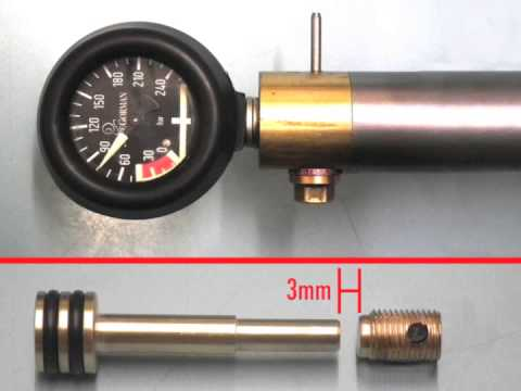 Airgun Regulator - MK3-5a Pressure Adjustment Demo.