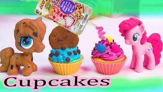 MLP Pinkie Pie My Lie Pony Themed Cupcake Coeswirlc Coe Pony Clay Cupcakes DIY