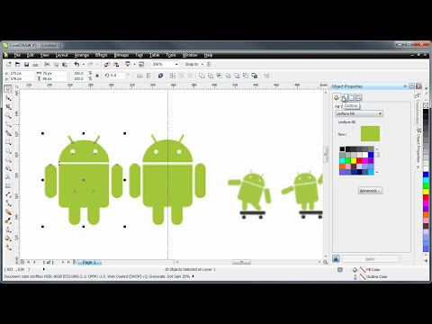 CorelDRAW tutorial -- creating a logo (with the Android logo)