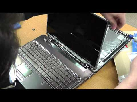 Laptop screen replacement / How to replace laptop screen [HP Pavilion dv7]
