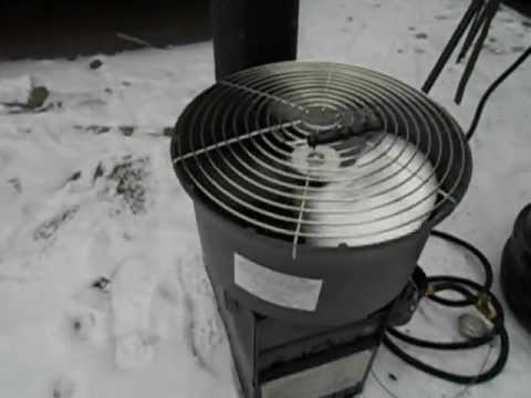 US Army Surplus Hunter Heater ( SHA ) with Aspen Thermoelectric Fan