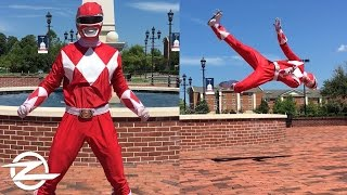 POWER RANGER TRICKING | Martial Arts Flips and Tricks