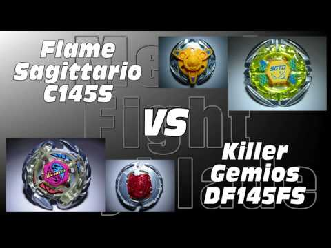 Flame Sagittario C145s Vs Killer Gemios Df145fs - Amvbb Beyblade Battle video