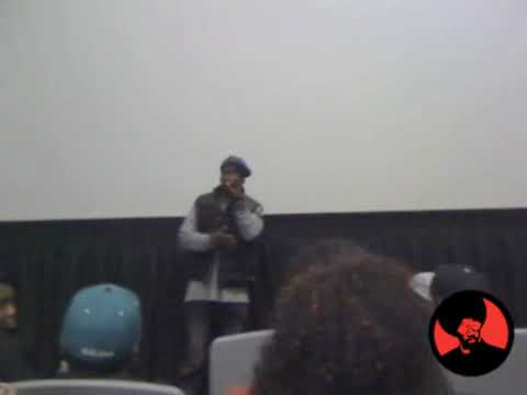 50 Cent speaks at Before I Self Destruct Premiere