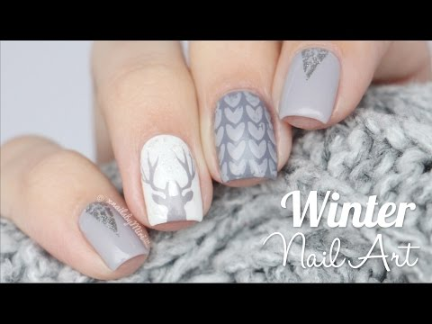 Winter Wonderland Nail Art! - YouTube