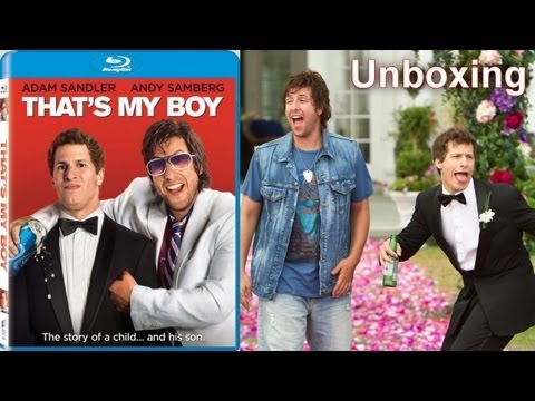 That's My Boy - Blu-ray Unboxing (2012) Adam Sandler And Andy Samberg video