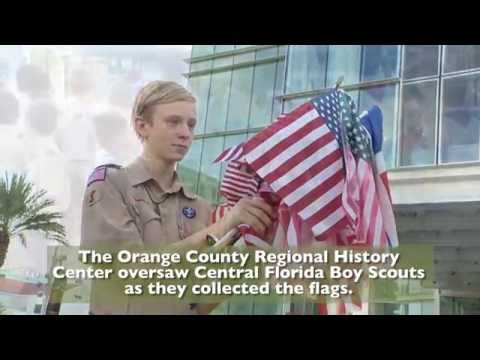 OCFL News | Boy Scouts Retire Flags At DPC Memorial