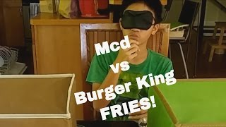 Best French Fries! McDonalds vs Burger King. Who wins?