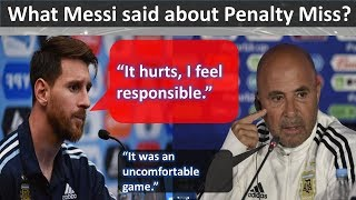 This is What Messi Said about Penalty Miss ||Lionel Messi Penalty miss vs Iceland