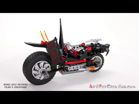SHREDDER'S DRAGON BIKE - Lego Teenage Mutant Ninja Turtles 79101 Animated Building Review