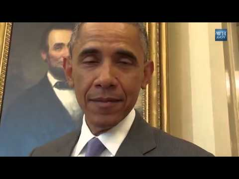 President Obama imitates Frank Underwood for April Fools Day