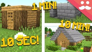 MINECRAFT HOUSE: 10 Minute, 1 Minute, 10 Second!