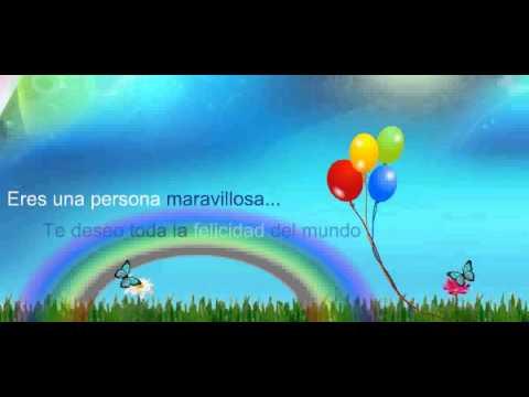 Maravilloso - Video animado de Feliz Cumpleaños