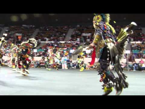 Chicken Dance Contest (1st Song) Denver March Powwow 3-22-14 video