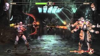 Kratos vs Kintaro and Shao Khan MK9