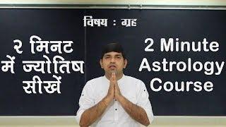 2 Minute Astrology Tutorials in Hindi: दो मिनट का ज्योतिष कोर्स