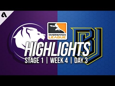 Los Angeles Gladiators vs Boston Uprising ft Surefour | Overwatch League Highlights OWL Week 4 Day 3