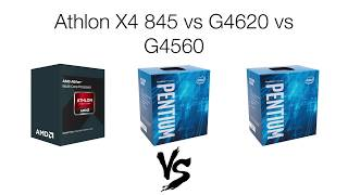 CPU Battle: Athlon X4 845 vs G4620 vs G4560