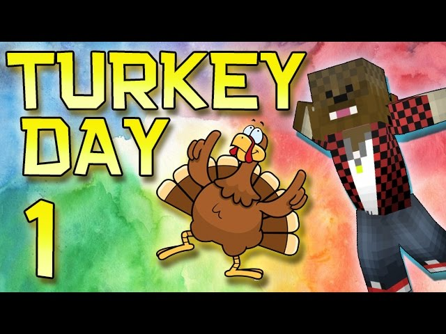 Minecraft: Modded Turkey Day Thanksgiving Survival Let's Play w/Merome 1 - How To Build A House!