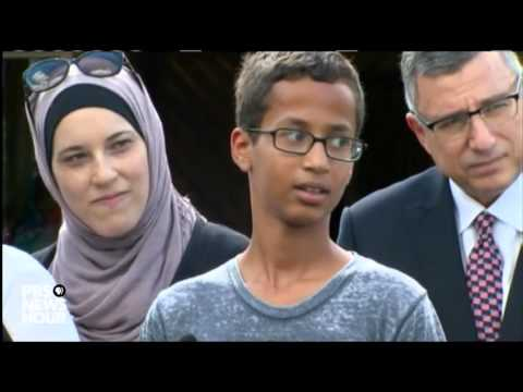 Student arrested for bringing clock to school speaks to media