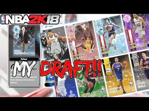 NBA 2k18 MyTEAM Mode Gameplay Trailer! New Draft Mode! Diamond Coaches + MORE!