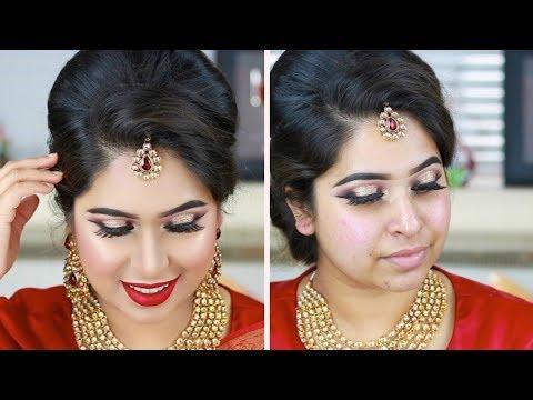 Wedding Guest Makeup Tutorial | Bangladeshi Indian Wedding Reception Party Makeup