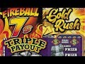 "NEW TICKET SHOWCASE - ""FIREBALL 7s"" ""GOLD RUSH"" ""TRIPLE PAYOUT"" - MO Lotto Scratchers!"