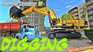 Farming Simulator 2017 Mods: Digging - Caterpillar 289C Excavator & KENWORTH T600 SEMI TRUCK