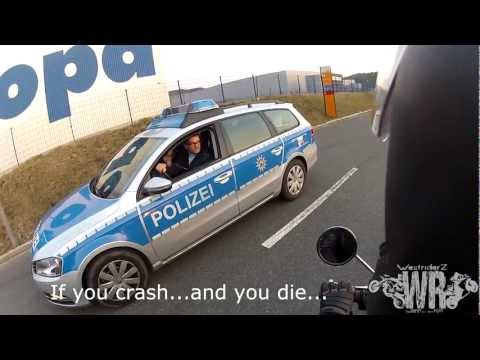 KTM 690 SMC-R Wheelie and Police | GoPro Hero 2