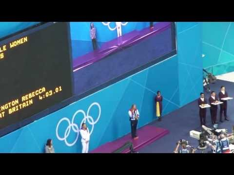 London 2012 Olympics Swimming - Rebecca Adlington Medal Ceremony