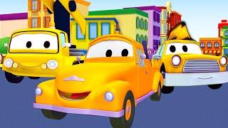 救急車,トラクター, そしてブルドーザ、レッカー車のトム, (子供向け)車&トラックの建設アニメ 🚚🚕