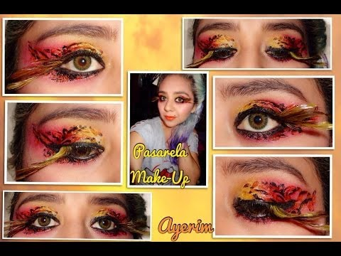 Maquillaje para pasarela sombras de tatuajes  - Makeup for gateway eyeshadow tatto/ Ayerim