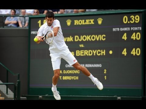 Novak Djokovic on quarter-final win at Wimbledon 2013