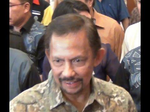 Sultan of Brunei at the Hilton Hotel, Kuching, Sarawak, Malaysia