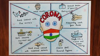 How to draw Corona Virus Awareness Drawing. Complete guide for Corona Virus through a Drawing.