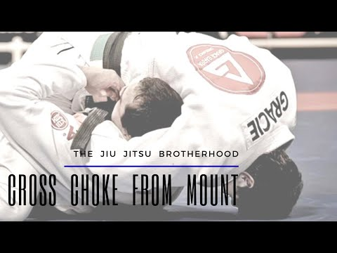 BJJ Cross Choke from Mount | Jiu Jitsu Brotherhood Image 1