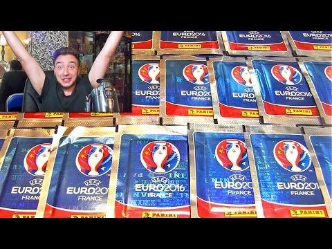 Ouverture de 20 Pack Panini FOOTBALL EURO 2016 ! ZLATAN IBRAHIMOVIC !!