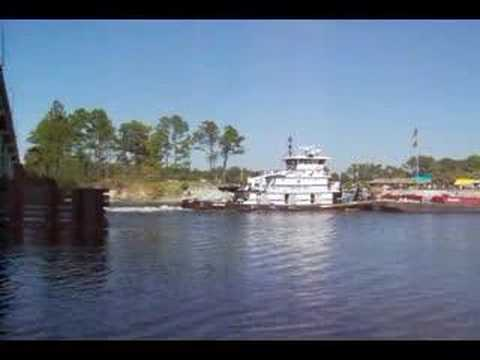 Another Barge on the ICW at LuLu's Gulf Shores, Al.
