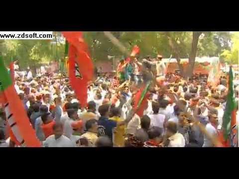 India election Narendra Modi celebrates poll victory