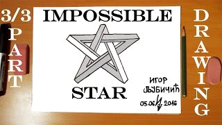 How to Draw The IMPOSSIBLE STAR | Step by Step Easy - Optical 3D Illusion on paper | TUTORIAL 3/3