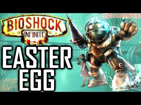 Big Daddy In Bioshock Infinite! 'rapture' Scene! Secret Little Sister & Big Daddy video