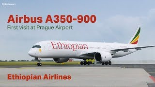 FIRST VISIT of the AIRBUS A350 at Prague Airport/První návštěva Airbusu A350 v Praze
