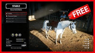 Red Dead Redemption 2 - How To Get The BEST Horses For FREE! Most RARE & Fastest Horses In The Game!