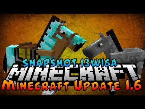 MineCraft 1.6: Snapshot 13w16a - Horses,Donkeys,Carpet, New Launcher, Leashes, Hay Bales!