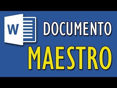 Lección 9 - Crear Documento Maestro en Word