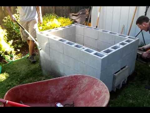 DIY backyard bbq pit. Stage 3 - YouTube