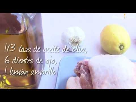 Pollo al ajillo con vino blanco