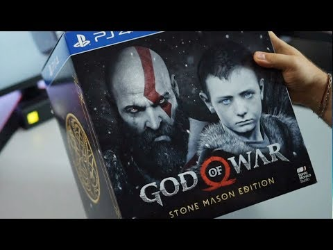 РАСПАКОВКА КРУТОГО GOD OF WAR: STONE MASON EDITION!