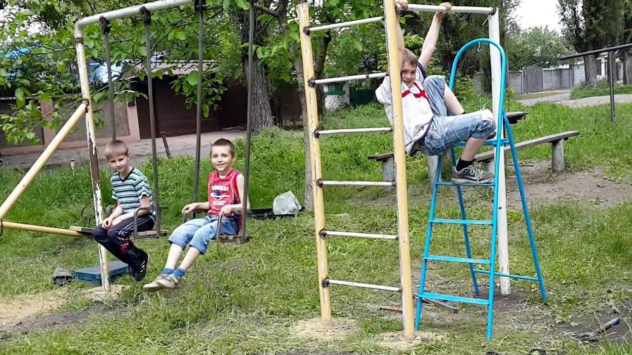 Детские площадки ютуб своими руками 26