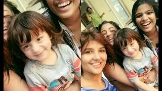 Abram Khan Poses With  Suhana Friends On Friendship Day